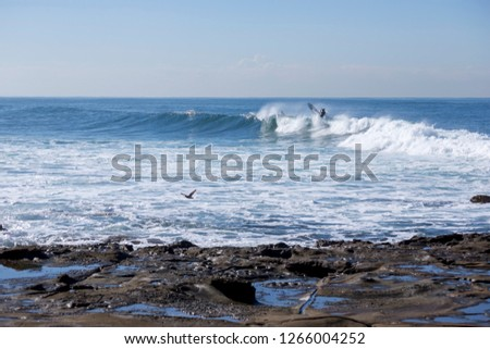 Rocks and waves in the ocean #1266004252