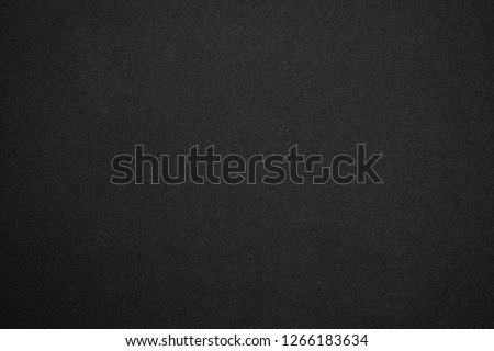 Black glitter background with tiny rough grain textured, Sandpaper texture abstract background. #1266183634