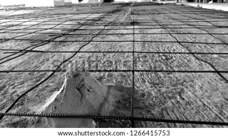 Iron wire Construction work. #1266415753