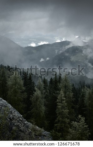 Autumn weather in the mountains #126671678