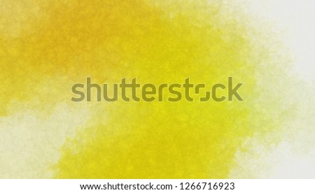 Watercolor paper background. Abstract Painted Illustration. Brush stroked painting. #1266716923