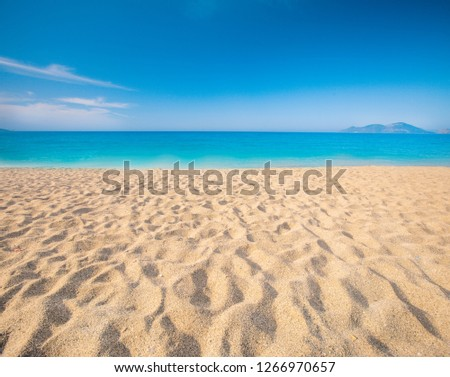beach and beautiful tropical sea #1266970657