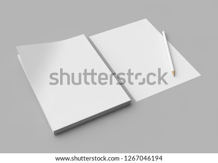Isolated Letterheads, Blank Template for Corporate Identity Royalty-Free Stock Photo #1267046194