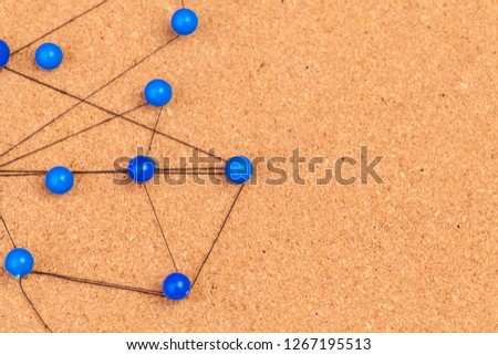 pins connected creating a network #1267195513