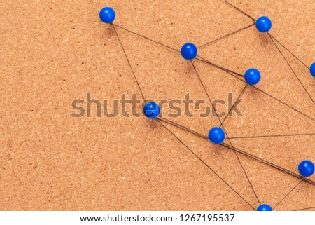 pins connected creating a network #1267195537