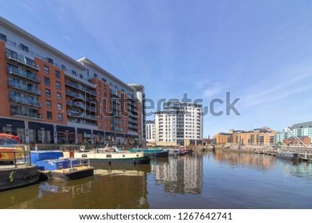 LEEDS, WEST YORKSHIRE, UK - JUNE 24th 2018. Leeds Dock #1267642741