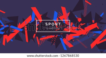 Trendy sports background. Composition of geometric shapes. Vector illustration