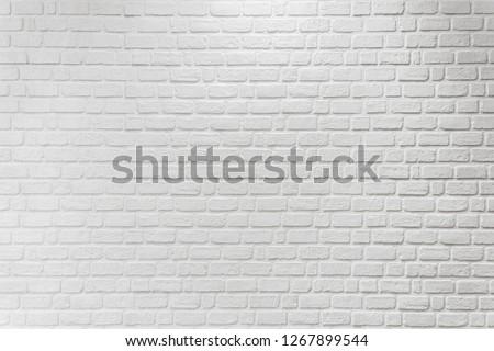 White brick wall texture background. #1267899544