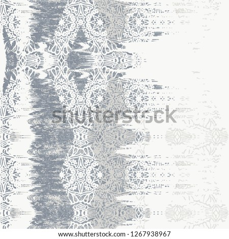 vector, ikat effect abstract texture or grunge ; For art texture, vintage, ethnic , modern damask pattern for carpet, rug, scarf, clipboard , shawl pattern. #1267938967