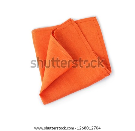 Fabric napkin for table setting on white background #1268012704