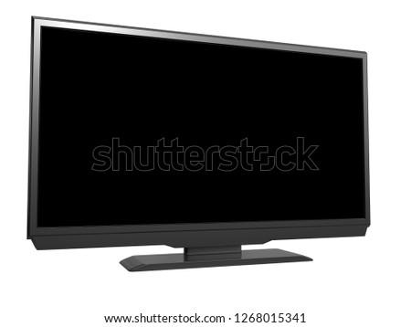LED tv on white background. 3D rendering #1268015341