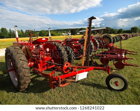 Columbine, USA - May 29, 2015: Exhibition of shows of antique tractors and agricultural machinery. #1268241022