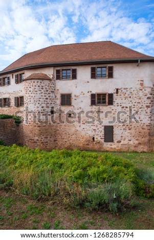 House in the city wall of Obernai/France #1268285794