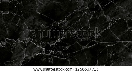Black and white marble stone natural pattern texture background and use for interiors tile wallpaper luxury design #1268607913