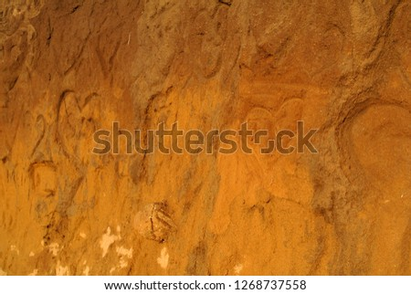 Hearts On A Cliff Royalty-Free Stock Photo #1268737558