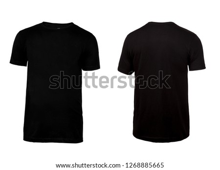 Black t-shirt, clothes on isolated white background #1268885665