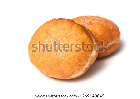 closeup of dough nut on white background #1269140845