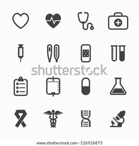 Medical Icons with White Background : NO.1 Royalty-Free Stock Photo #126926873