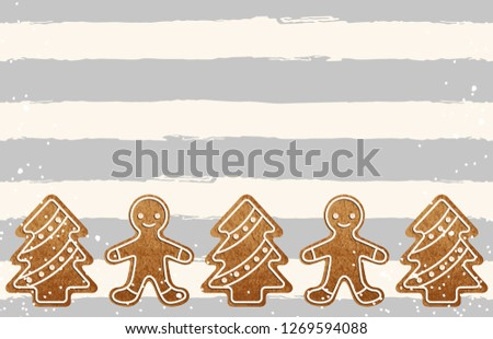 Christmas border composition. Printable Christmas festive border layout. Christmas decorations for background design with copy space great for creating greeting cards, invitations, and more. #1269594088