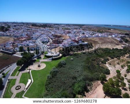 Palos de la Frontera. Huelva, Andalusia, Spain.Discover of America by Columbus. Drone Photo #1269680278