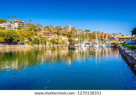 Sydney, Australia. Sep 13th, 2017. Boats and yachts moored in Mosman Bay within Sydney Harbour. #1270138351