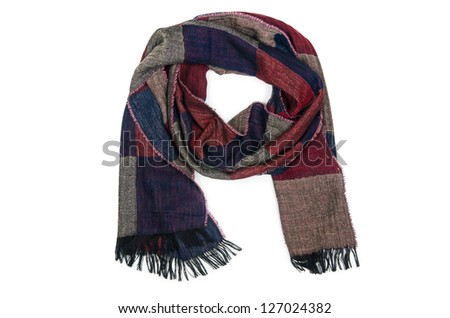 Warf scarf isolated on the white background #127024382