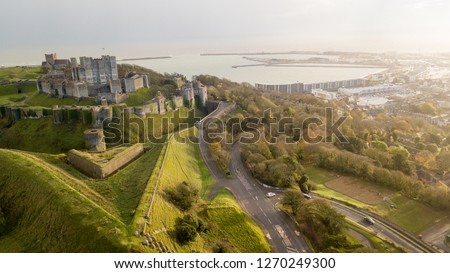 Dover Castle.  The most iconic of all English fortresses commanding the gateway to the realm for nine centuries. #1270249300