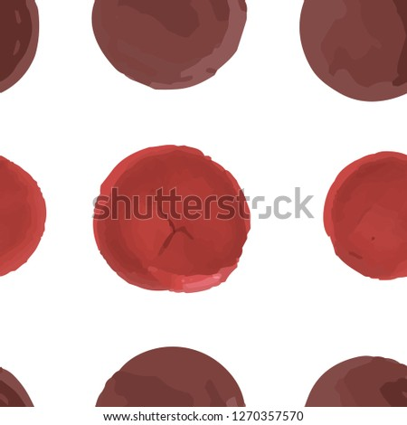 Seamless texture  Different Polka-Dots. This Endless pattern can be used for for your design, textile,  pattern fills, posters, cards, web page background etc. Pattern under the mask. Vector. #1270357570