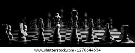 chess game landscape #1270644634