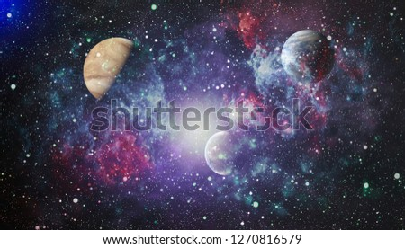 Nebula and galaxies in space. Elements of this image furnished by NASA. #1270816579