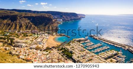 Puerto de Mogan town on the coast of Gran Canaria island, Spain. #1270905943