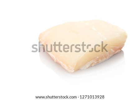 White halibut fisch raw white isolated