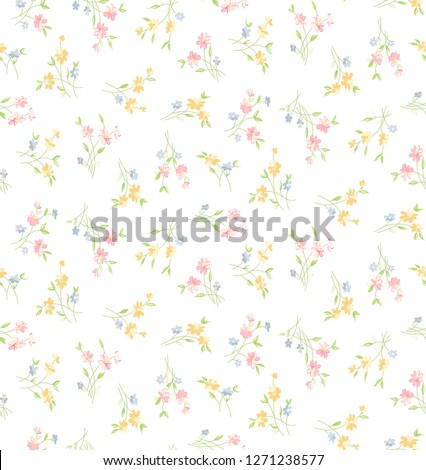 seamless Flower With white  on background #1271238577