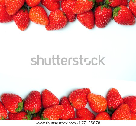 Strawberries on white background #127155878
