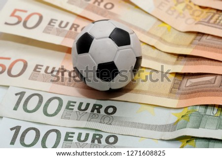 Football and Euro money. Online bet - sports betting and gambling addiction - sport and soccer  #1271608825