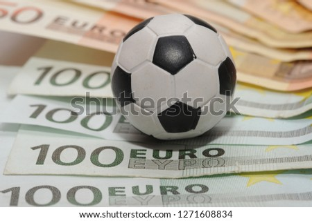 Football and Euro money. Online bet - sports betting and gambling addiction - sport and soccer  #1271608834
