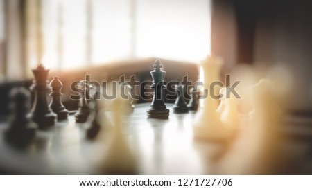 chess board game, strategy and competition in business concept. #1271727706