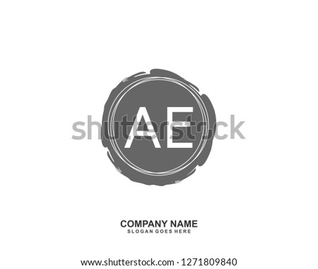 AE Initial letter geometric logo vector  #1271809840