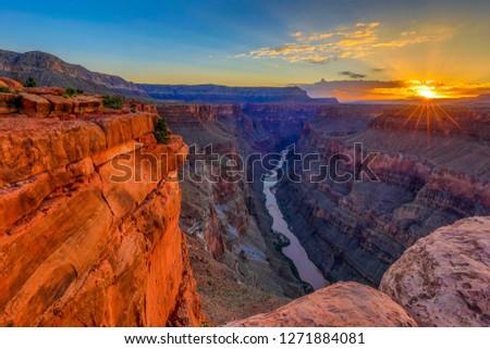 Sunrise at Grand Canyon's Toroweap Overlook #1271884081
