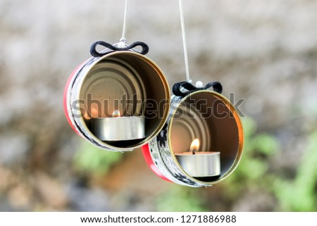 DIY Candle Holder Crafting Idea form a Recycled Cans #1271886988