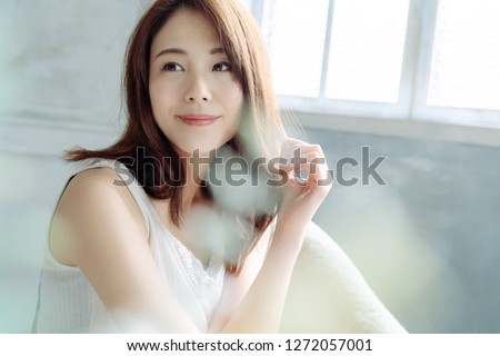 Beauty and skin care concept of a young asian woman. #1272057001