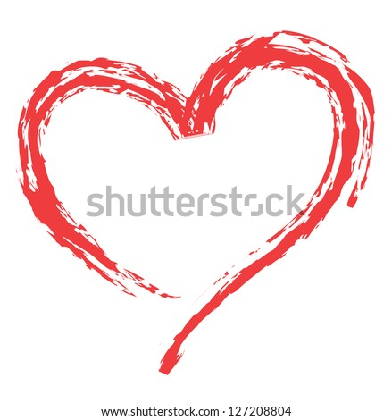 heart shape design for love symbols. #127208804