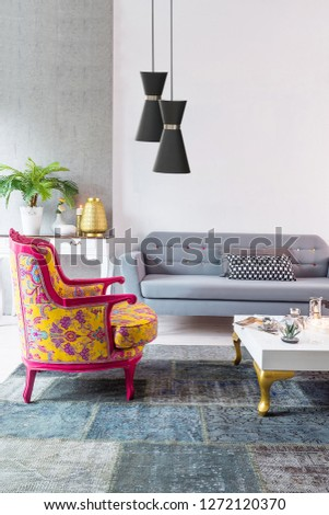 modern living room and interior design. decorative lamp #1272120370