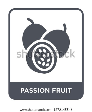 passion fruit icon vector on white background, passion fruit trendy filled icons from Fruits and vegetables collection, passion fruit simple element illustration #1272145546