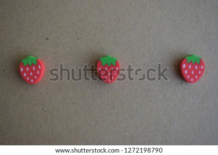 red strawberry rubber #1272198790