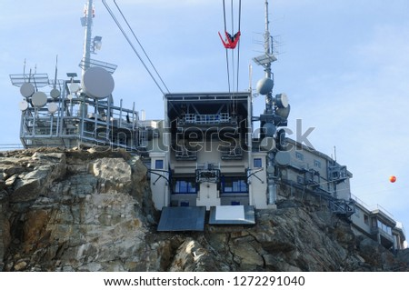 Swiss alps: The telecommunication technology systems on Mount Corv atsch in the upper Engadin #1272291040
