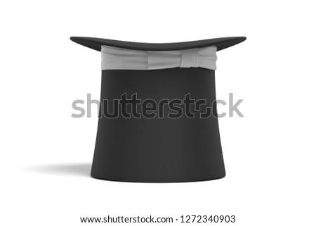 3d rendering cylinder hat on white background #1272340903