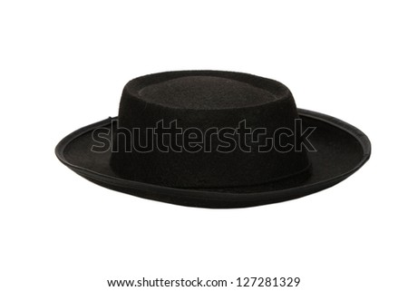 black hat on white background (cut out) #127281329