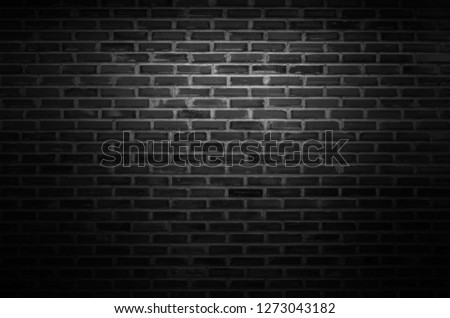 Black wall texture background The surface of the brick dark jagged. or abstract black wall background #1273043182