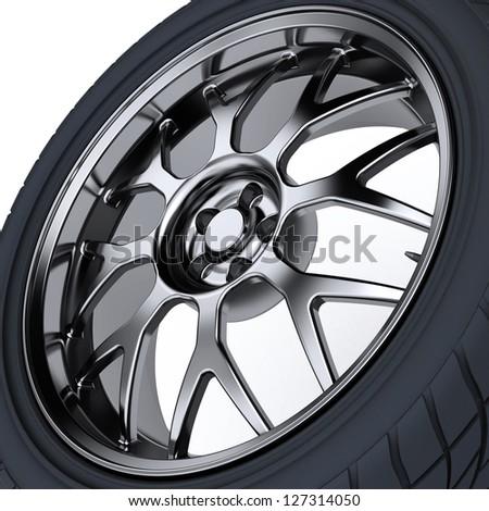 Car wheel. 3d illustration #127314050